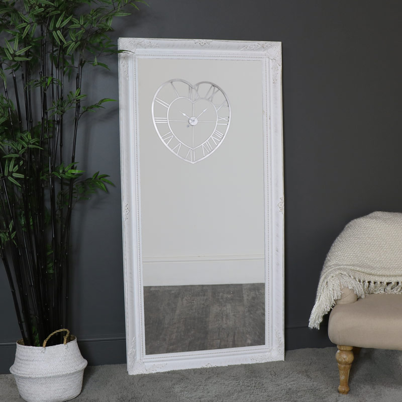 Extra Large White Wall/Floor Mirror 158cm x 78cm