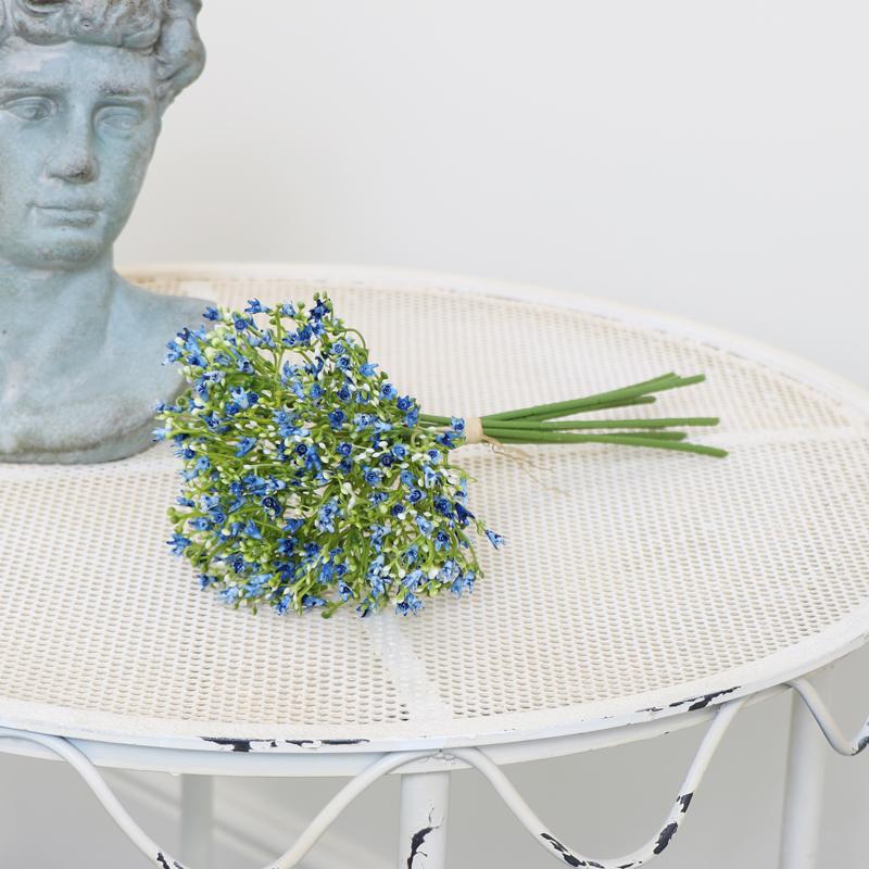 Faux Blue Wildflower Bouquet