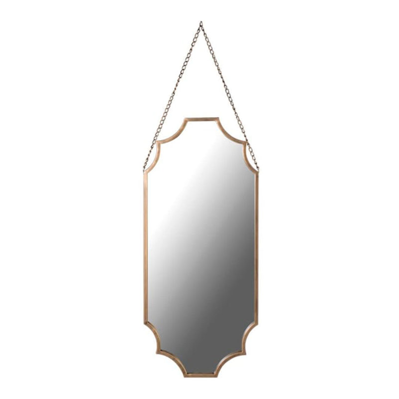 Gold Shaped Wall Hanging Mirror