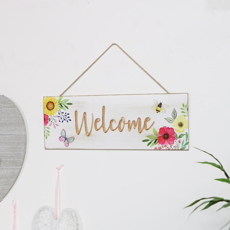 Floral Hanging Welcome Sign