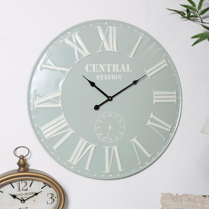 French Grey & Cream Wall Clock
