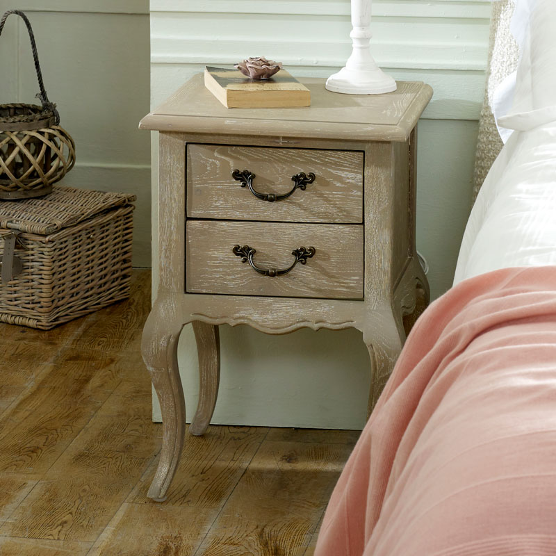 Details about French style bedside table nightstand shabby chic vintage  bedroom furniture home