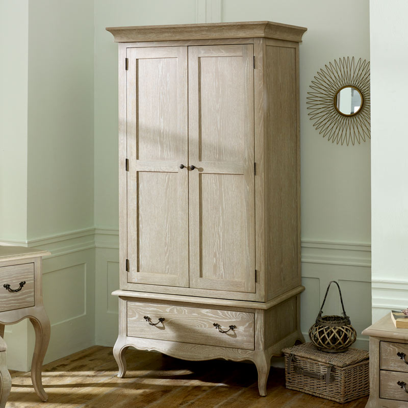 Details about French style armoire wardrobe clothing storage bedroom  furniture vintage chic