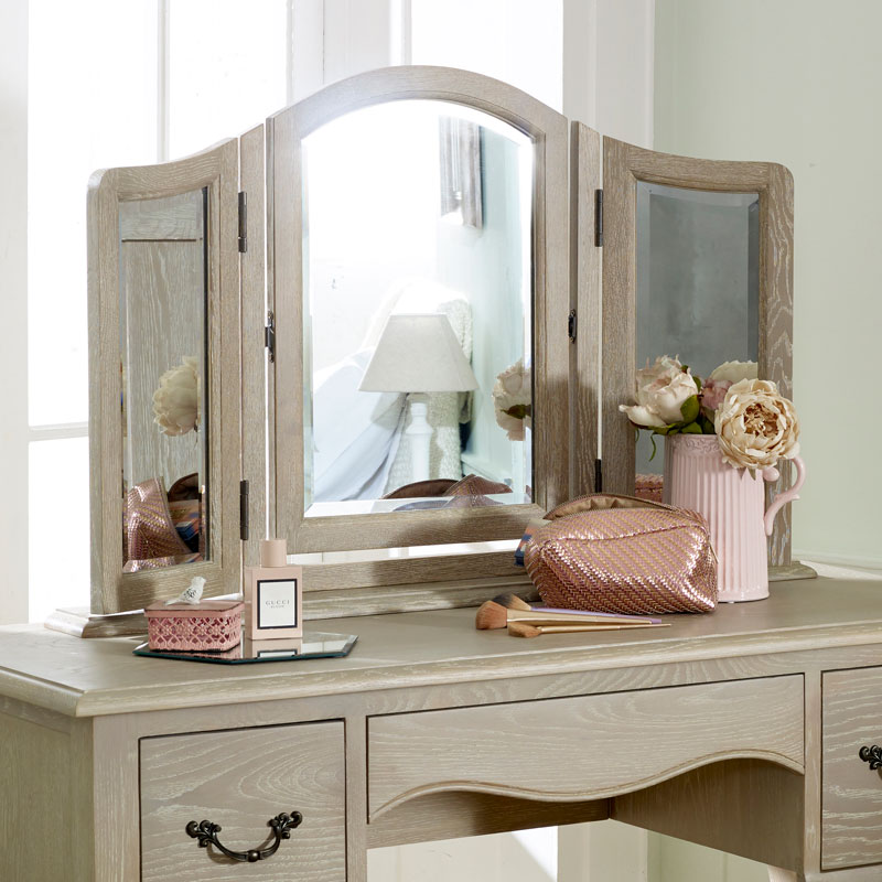 Details About French Dressing Table Vanity Mirror Shabby Chic Vintage Bedroom Adjustable Tilt