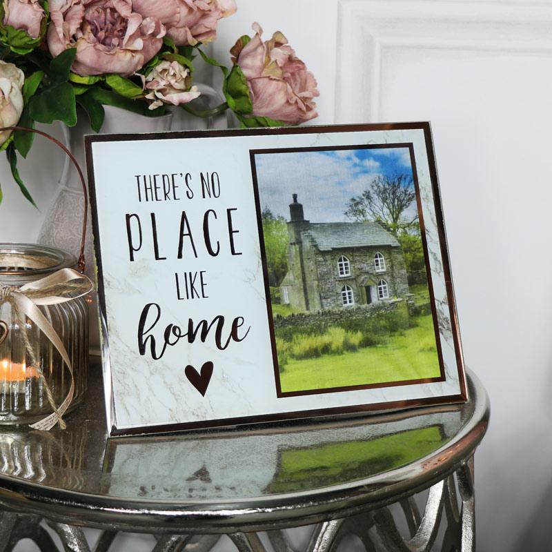 glas kupfer gerahmt freistehend foto rahmen vintage chic. Black Bedroom Furniture Sets. Home Design Ideas