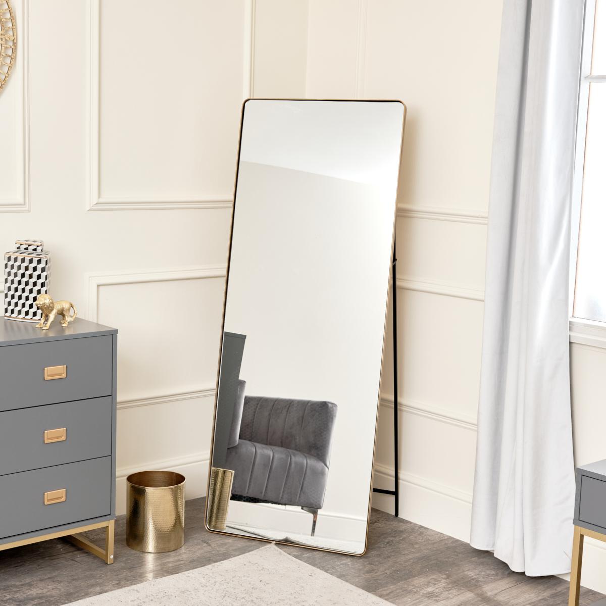 Gold Free Standing Cheval Mirror 155cm x 60cm