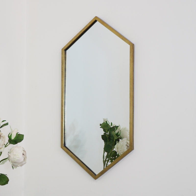 Gold Hexagon Wall Mirror