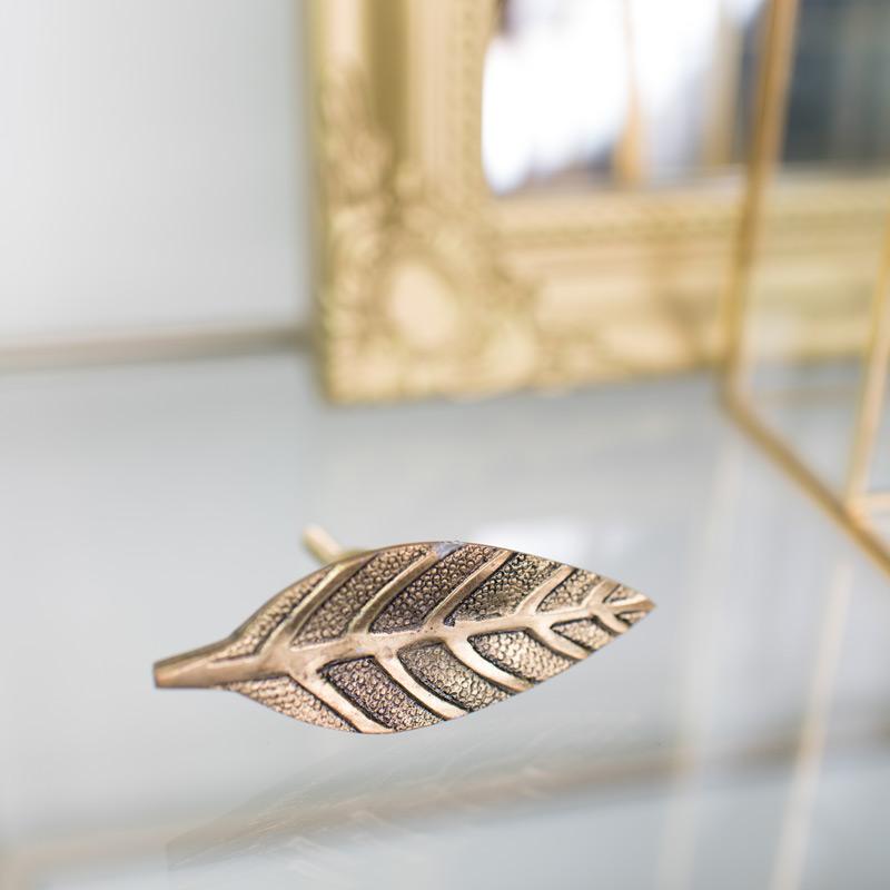 Gold Leaf Shape Drawer Knob