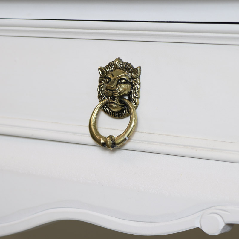 Gold Lion Head Drawer Knob