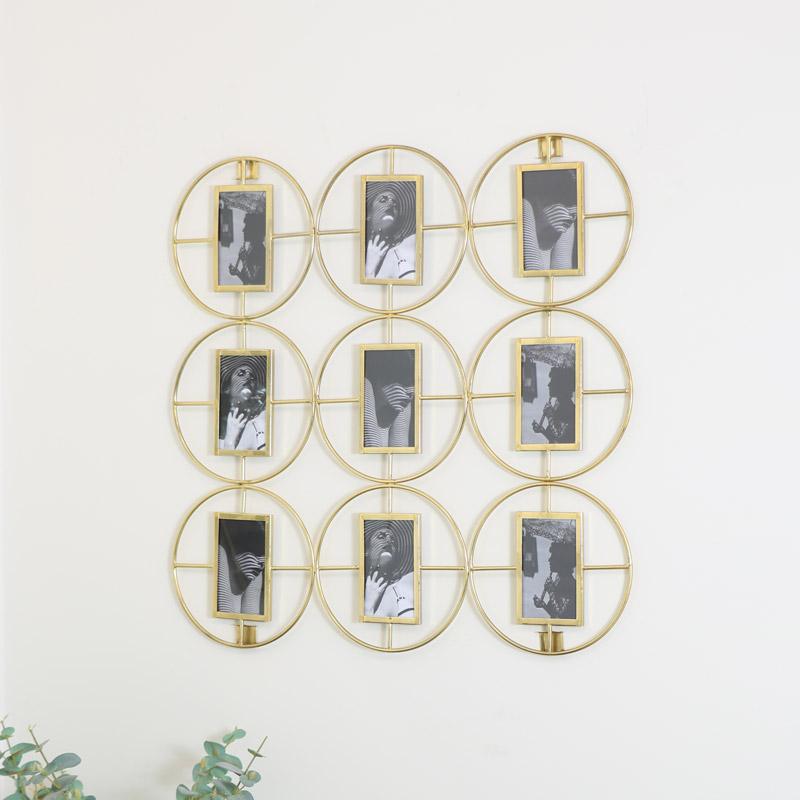 Gold Multi Photo Display