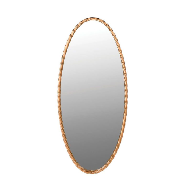 Gold Oval Twisted Edge Mirror