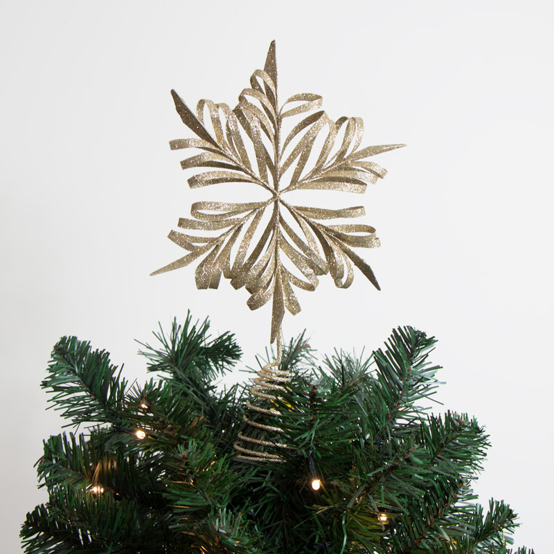 Gold Snowflake Tree Topper