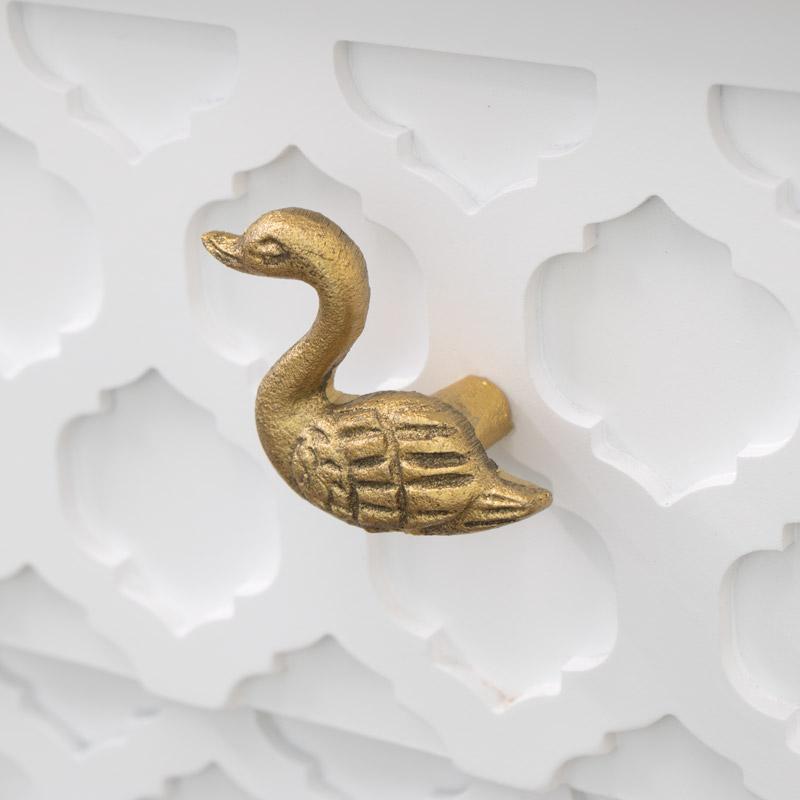 Gold Swan Drawer Knob