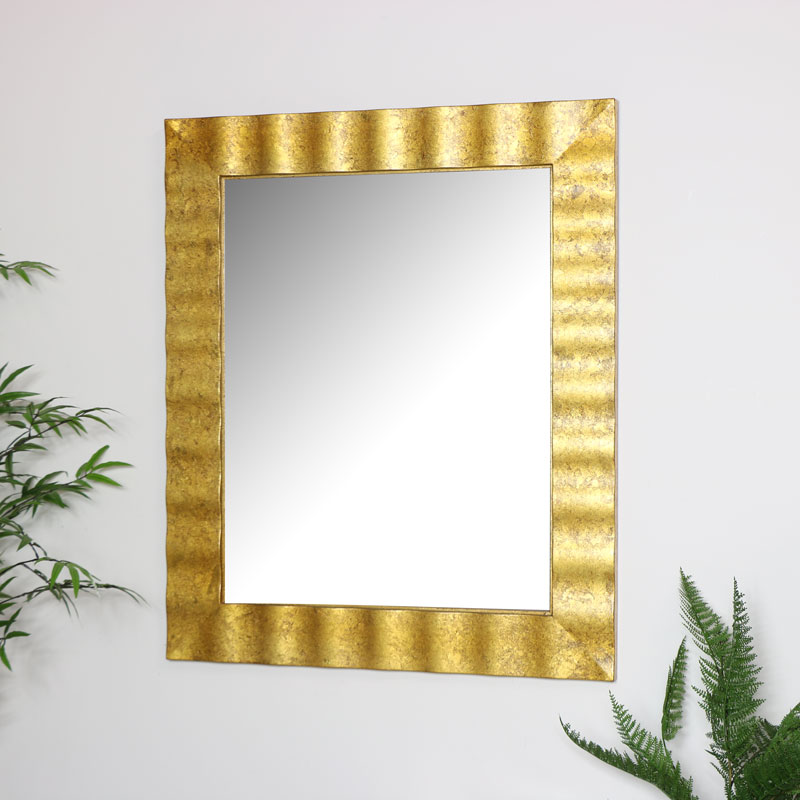 Gold Wall Mirror 76cm x 91cm