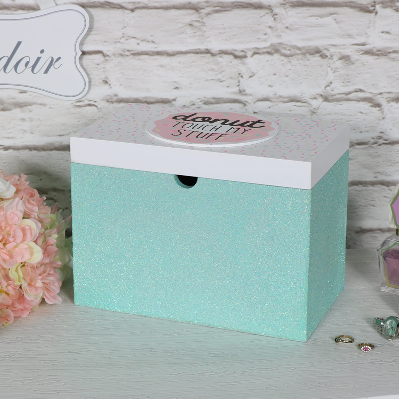Green Donut Keepsake Trinket Storage Box