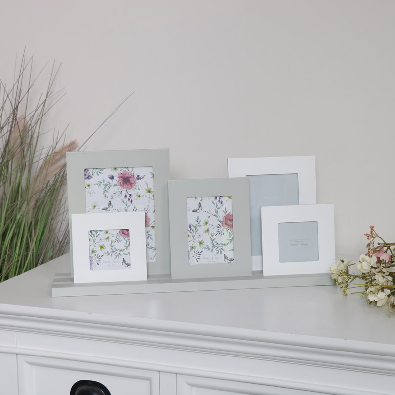 Green & White Multi Photo Frame