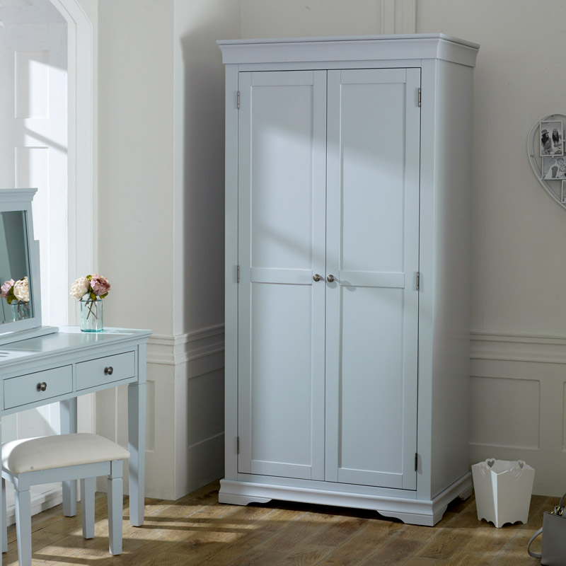 Grey 2 Door Wardrobe - Newbury Grey Range