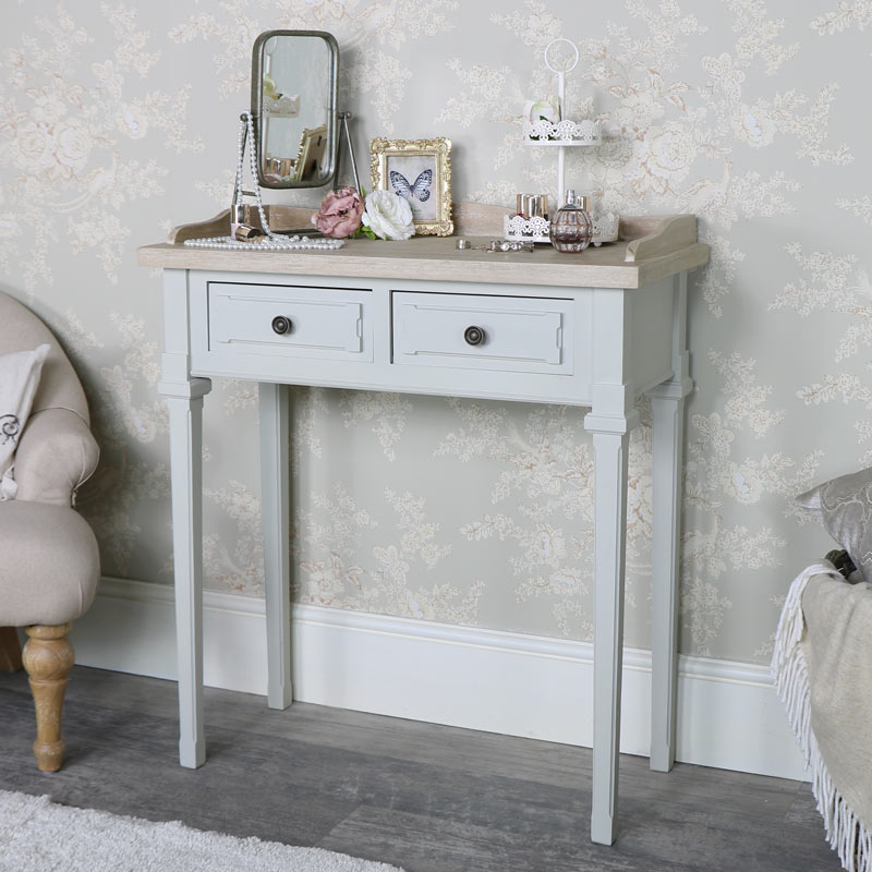 Grey 2 Drawer Console Table - Stanford Range