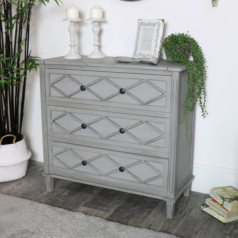 Grey Chest of Drawers - Venice Range
