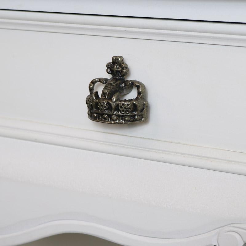 Grey Crown Drawer Knob