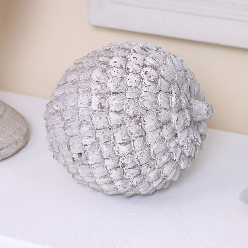 Grey Distressed Artichoke Ornament