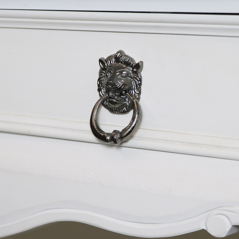 Grey Lion Head Drawer Knob