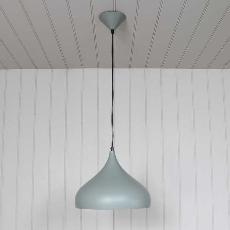 grey metal dome pendant ceiling light fitting melody maison 174