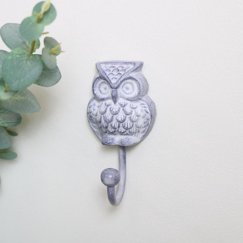 Grey Owl Wall Hook