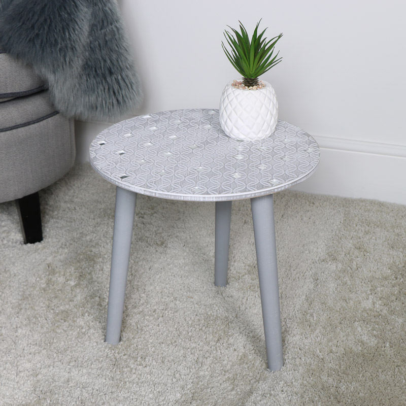 Grey Side Table - Living Room Furniture