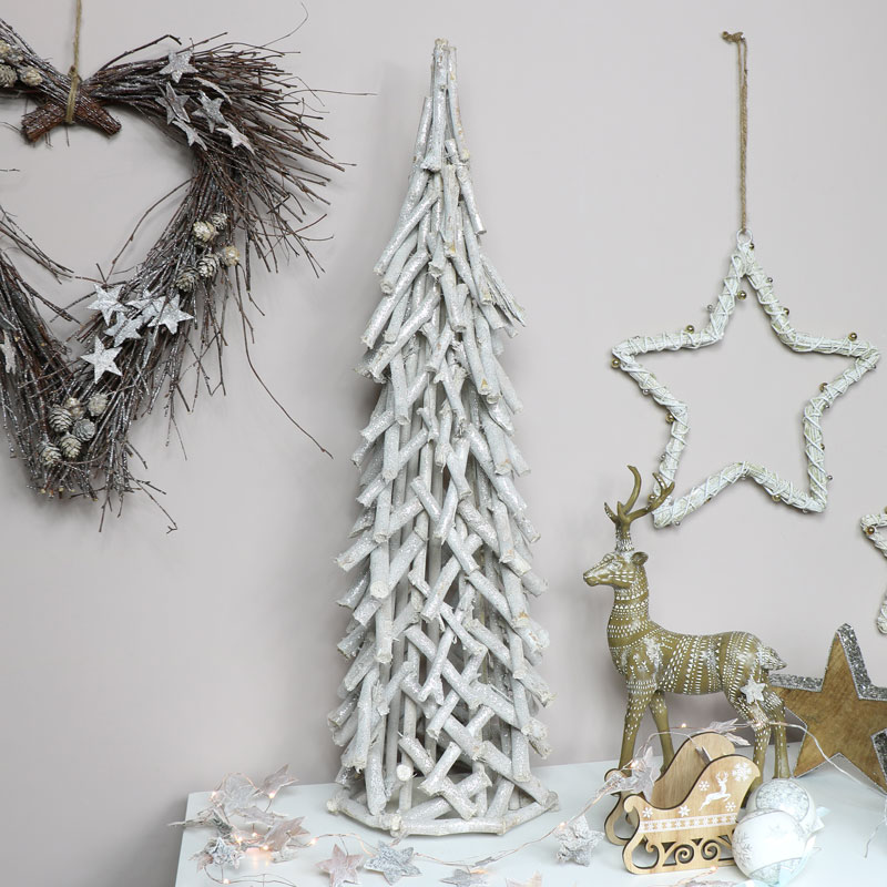 Grey & Silver Glitter Christmas Tree