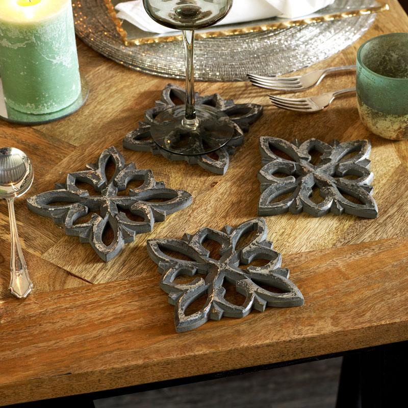 Grey Wooden Coasters