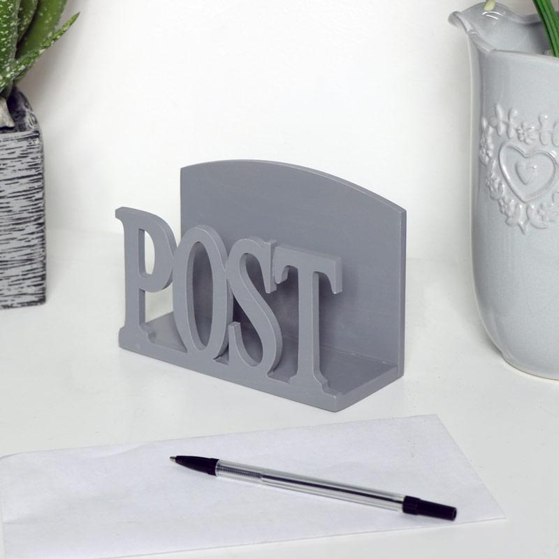 Grey Wooden Post Rack