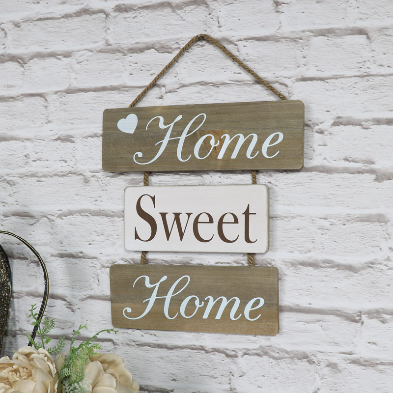 'Home Sweet Home' Hanging Wall Plaque - Melody Maison®
