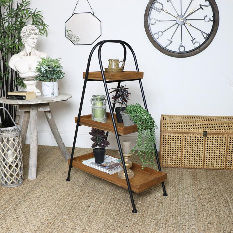 Industrial Free Standing 3 Tier Display Shelf