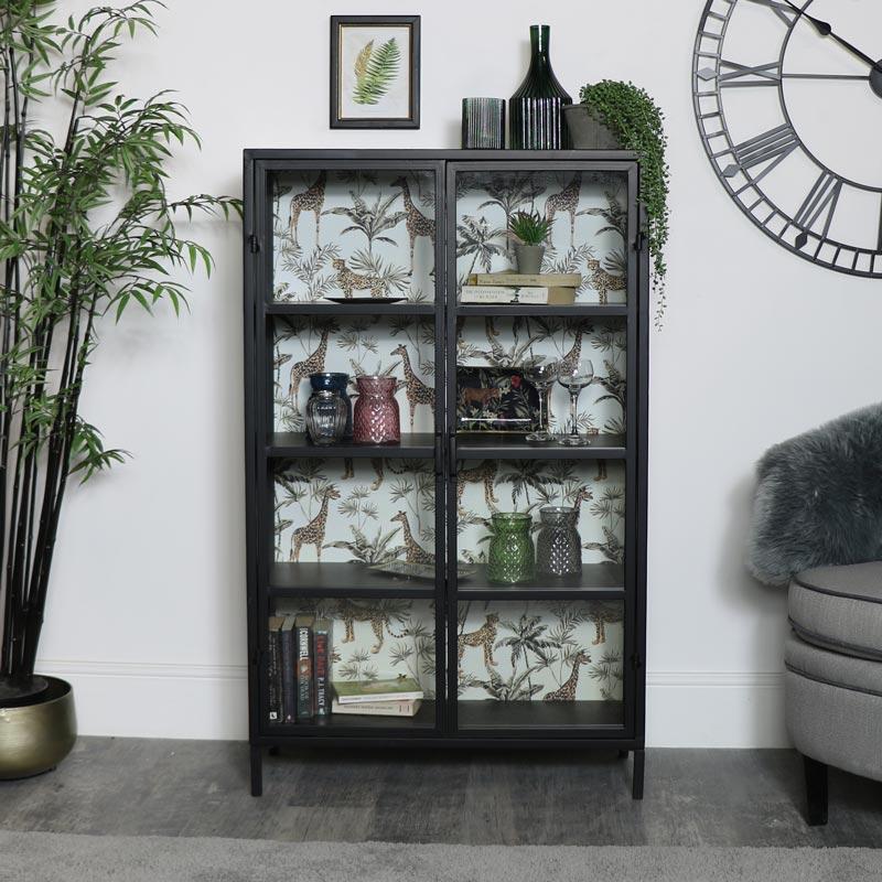Industrial Metal Safari Display Cabinet