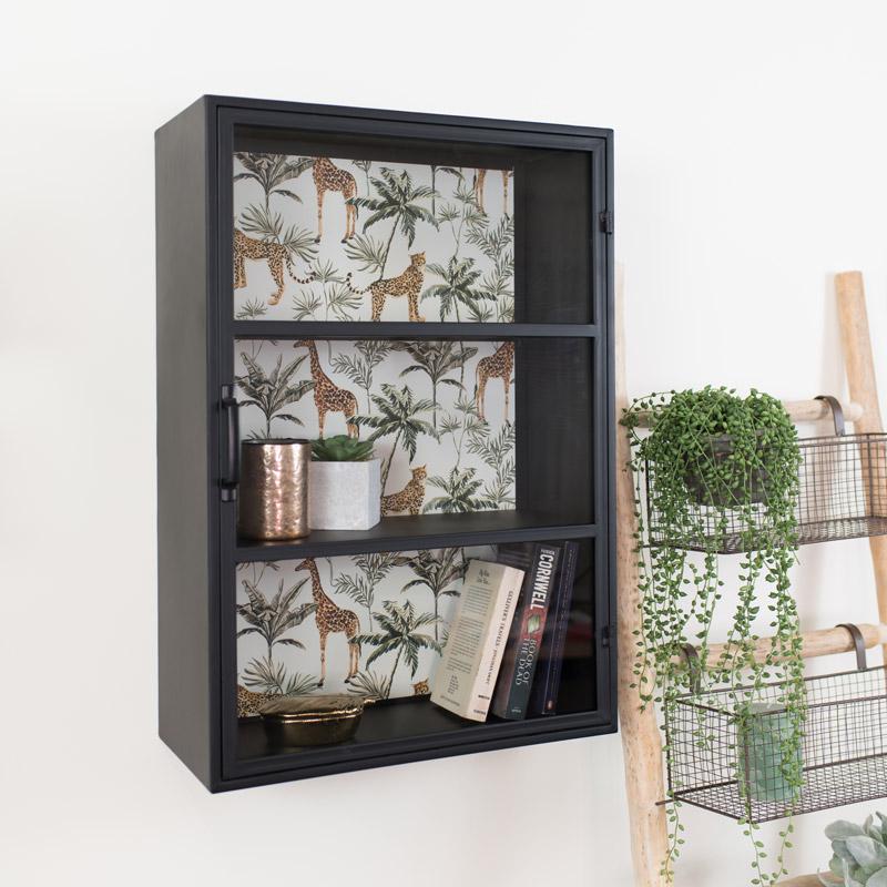 Industrial Metal Safari Wall Cabinet