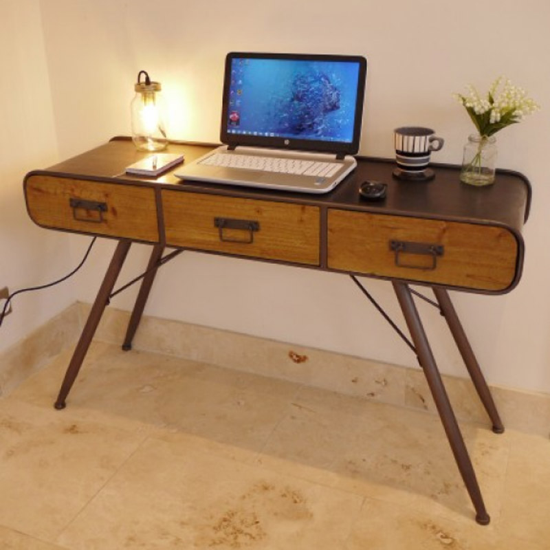 Industrial Style Dressing Table / Desk - Retro Range