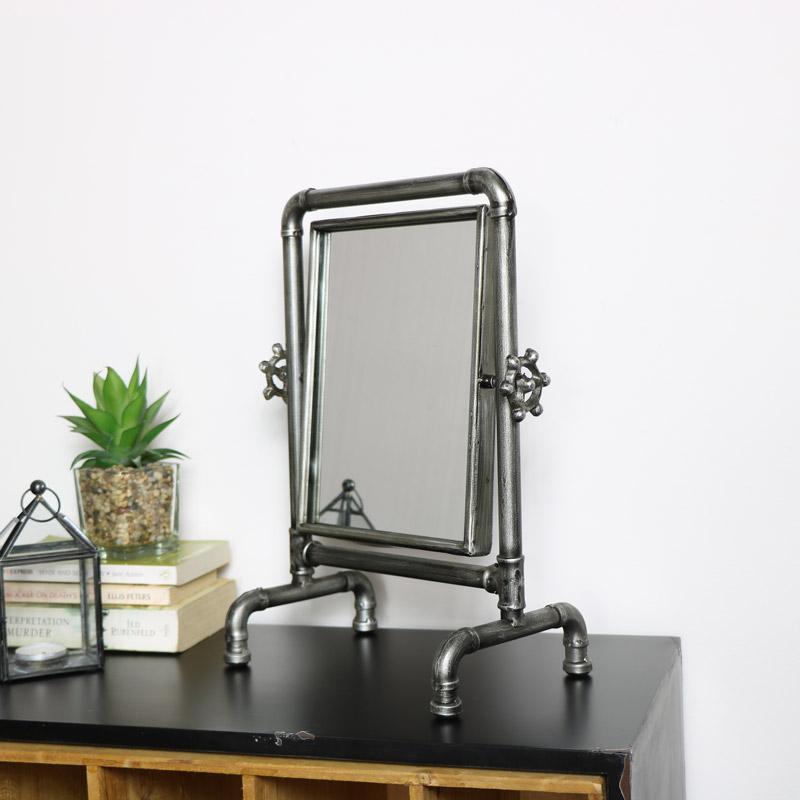 Industrial Tabletop Vanity Mirror 28cm x 37cm