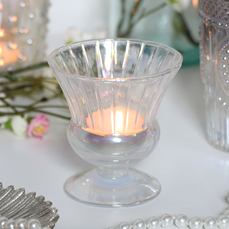Iridescent Tealight Holder