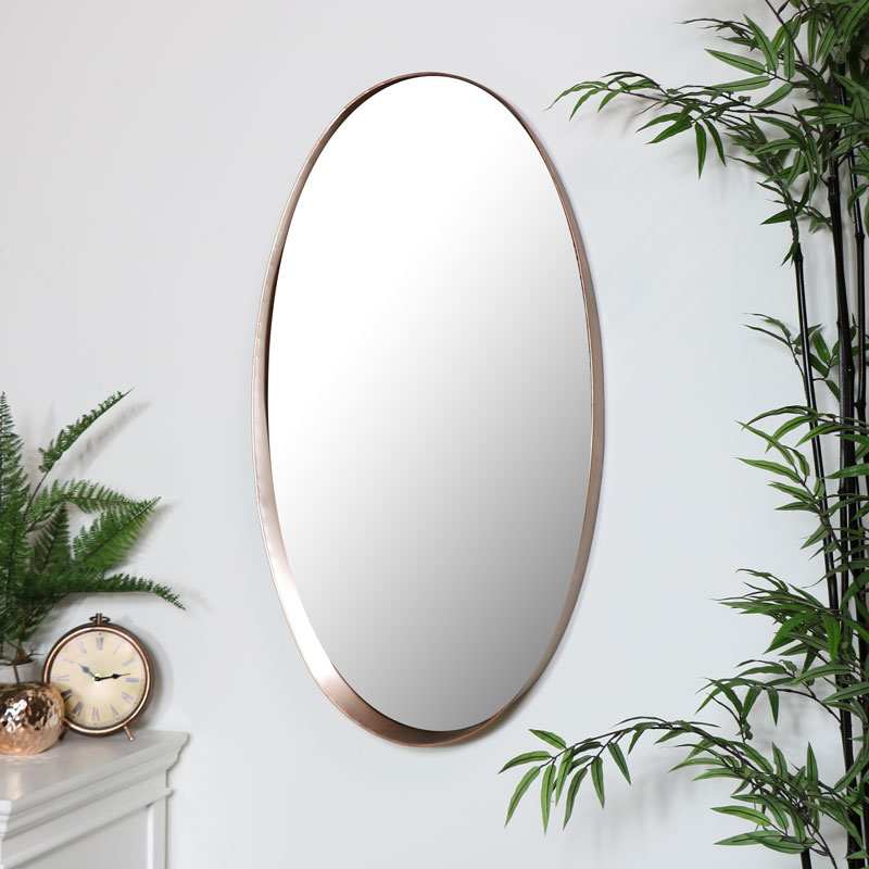 Large Copper Wall Mirror 93cm x 50cm