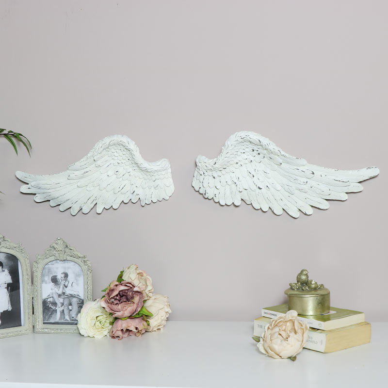 Large Cream wall mounted Angel Wings