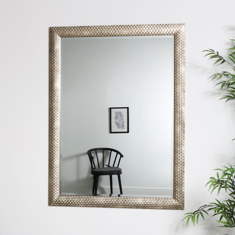 Large Gold Rectangle Deco Mirror  90cm x 120cm