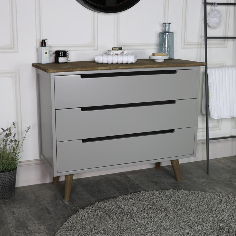 Large Grey Chest of Drawers