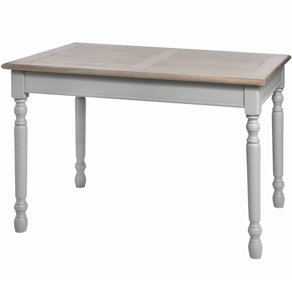 Large Grey Dining Table with Natural Wood Top - Admiral Range