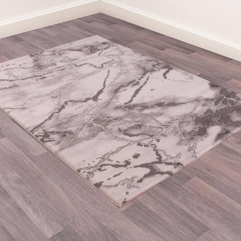 Large Grey Marble Rug 120cm x 170cm