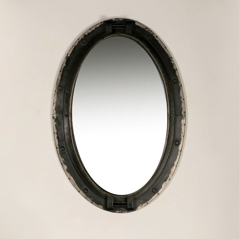 Large Oval Porthole Style Wall Mirror 50cm x 74cm