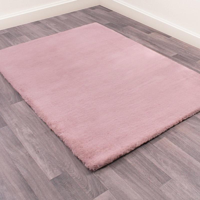 Large Pink Faux Fur Rug 120cm x 170cm