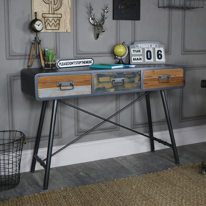 Large Retro Industrial Console Table Chicago Range
