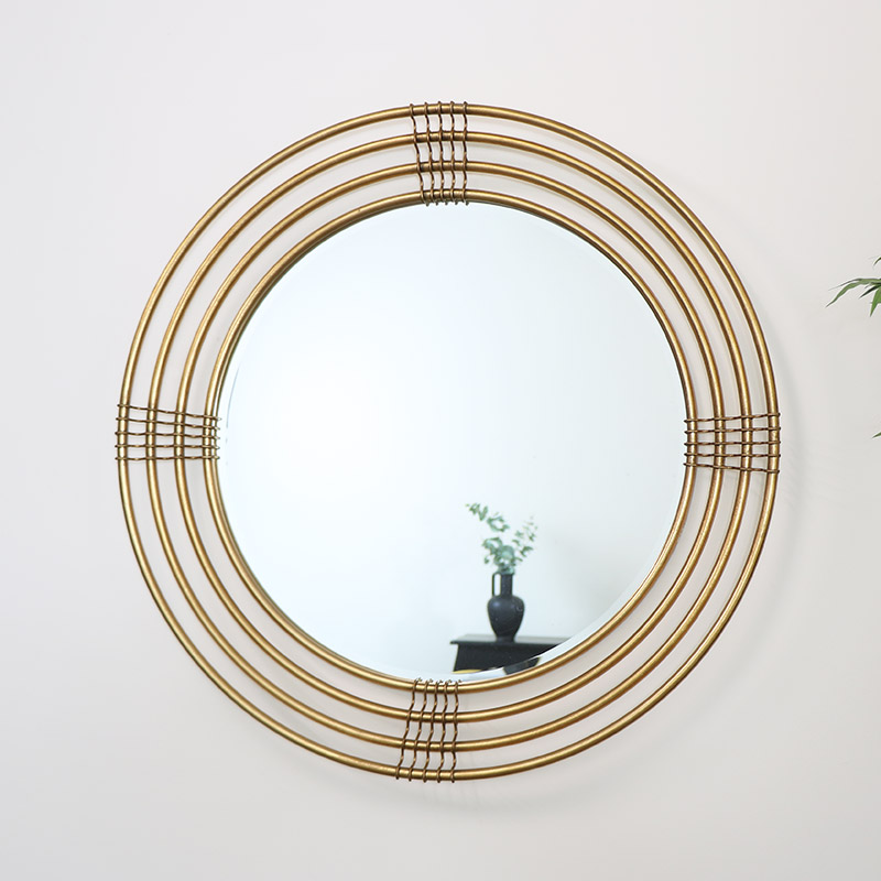 Large Round Gold Multi Framed Mirror 91cm x 91cm
