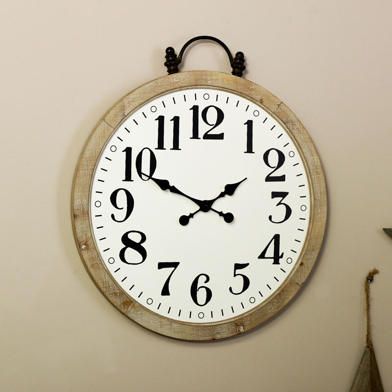 Large Rustic Pocket Watch Wall Clock